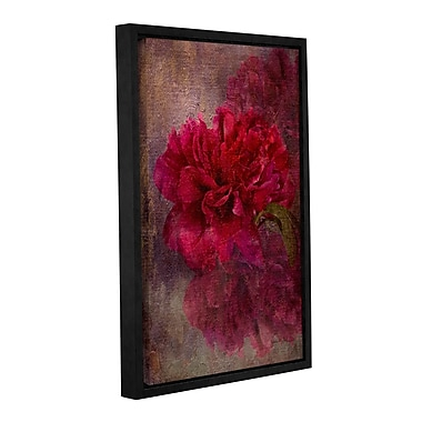 Charlton Home 'Tapestry Rose' Framed Painting Print on Wrapped Canvas; 12'' H x 8'' W x 2'' D