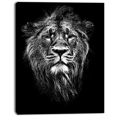 East Urban Home Male Asiatic Lion Oil Painting Print on Canvas; 30 '' W x 40 '' H