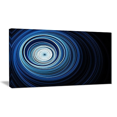 East Urban Home Endless Tunnel Light Blue Ripples Oil Painting Print on Canvas; 32 '' W x 16 '' H