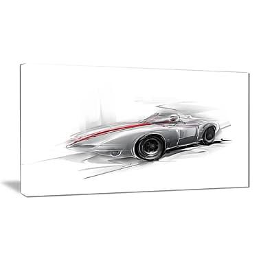 East Urban Home Silver Formula One Car Photographic Print on Canvas; 40 '' W x 20 '' H
