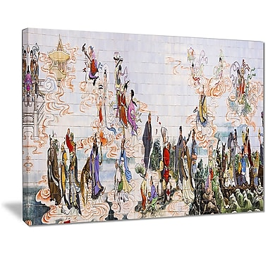 East Urban Home Immortals Graphic Art Print on Canvas; 20 '' W x 12 '' H