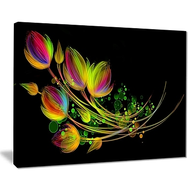 East Urban Home Bright Bouquet Graphic Art Print on Canvas; 40 '' W x 30 '' H