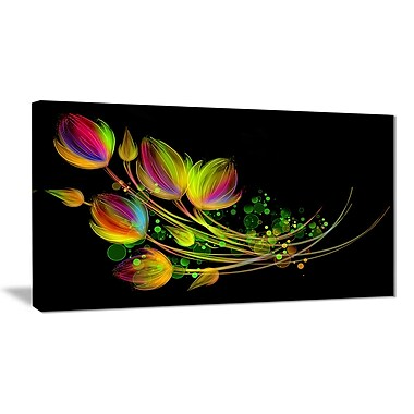 East Urban Home Bright Bouquet Graphic Art Print on Canvas; 32 '' W x 16 '' H