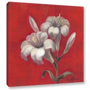 Red Barrel Studio 'Christmas Flowers' Painting Print on Wrapped Canvas; 14'' H x 14'' W x 2'' D