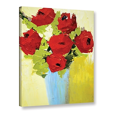 The Holiday Aisle Fun Bouquet Painting Print on Wrapped Canvas; 18'' H x 14'' W x 2'' D
