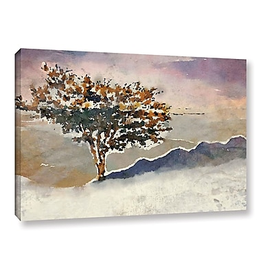 World Menagerie 'Mountain Tree' Painting Print on Canvas; 12'' H x 18'' W x 2'' D