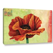Alcott Hill Poppy Painting Print on Wrapped Canvas; 16'' H x 24'' W x 2'' D