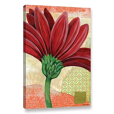 World Menagerie 'Gerbera' Painting Print on Wrapped Canvas; 18'' H x 12'' W x 2'' D