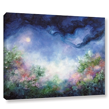 Winston Porter Angel Moon Garden Painting Print on Wrapped Canvas; 14'' H x 18'' W x 2'' D