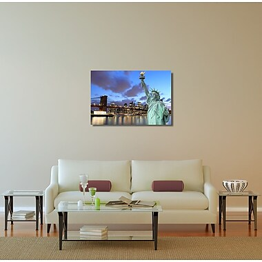 Latitude Run City Skylines ''NYC Statue of Liberty'' Photographic Print on Canvas
