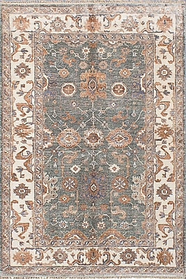 Darby Home Co Beth Hand-Knotted Turquoise Area Rug