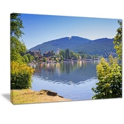 East Urban Home Lake Titisee Black Forest Germany Oil Painting Print on Canvas; 40 '' W x 30 '' H