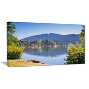 East Urban Home Lake Titisee Black Forest Germany Oil Painting Print on Canvas; 40 '' W x 20 '' H