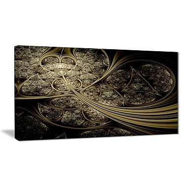 East Urban Home White Metallic Fabric Pattern Photographic Print on Canvas; 32 '' W x 16 '' H