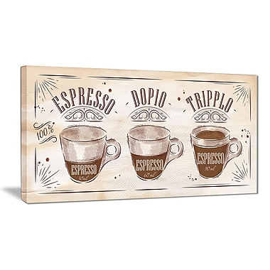 East Urban Home Espresso Kraf Brown Photographic Print on Canvas; 40 '' W x 20 '' H