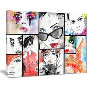 East Urban Home Girls Collage Photographic Print on Canvas; 40 '' W x 30 '' H