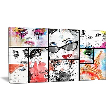East Urban Home Girls Collage Photographic Print on Canvas; 40 '' W x 20 '' H