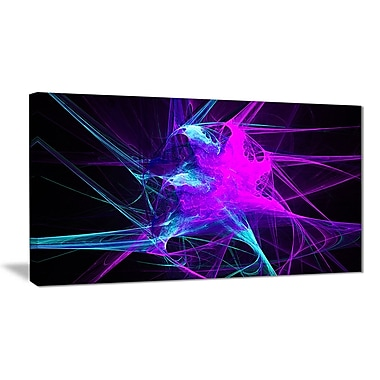 East Urban Home Purple Glowing Ball of Smoke Graphic Art Print on Canvas; 32 '' W x 16 '' H