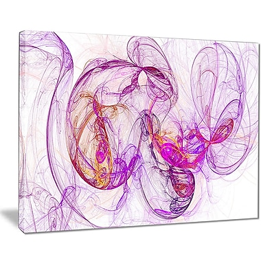 East Urban Home Billowing Smoke Magenta Graphic Art Print on Canvas; 20 '' W x 12 '' H