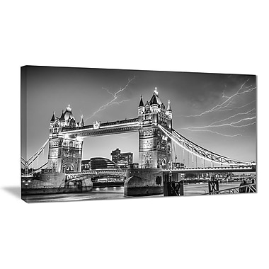 East Urban Home Majesty of Tower Bridge London Photographic Print on Canvas; 40 '' W x 20 '' H