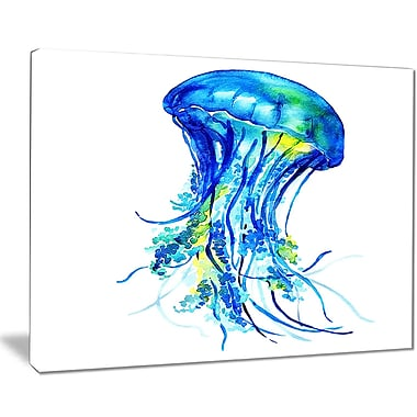 East Urban Home Ocean Water Jellyfish Graphic Art Print on Canvas; 40 '' W x 30 '' H