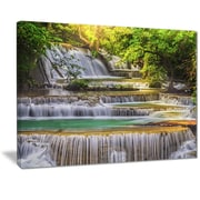 East Urban Home Tranquil Erawan Waterfall Photographic Print on Canvas; 20 '' W x 12 '' H