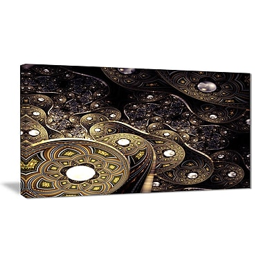 East Urban Home Beautiful Gold Metallic Fabric Graphic Art Print on Canvas; 40 '' W x 20 '' H