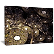 East Urban Home Beautiful Gold Metallic Fabric Graphic Art Print on Canvas; 20 '' W x 12 '' H