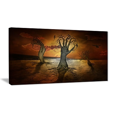 East Urban Home Storage Trees Graphic Art Print on Canvas; 32 '' W x 16 '' H