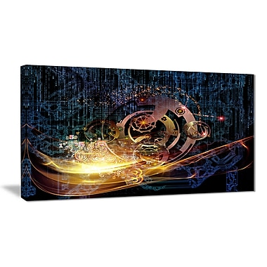 East Urban Home Lights of Gears Graphic Art Print on Canvas; 40 '' W x 20 '' H