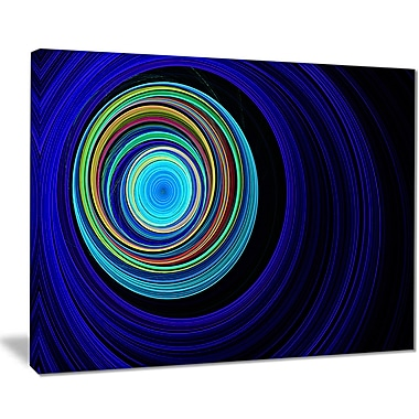 East Urban Home Endless Tunnel Blue Ripples Graphic Art Print on Canvas; 20 '' W x 12 '' H