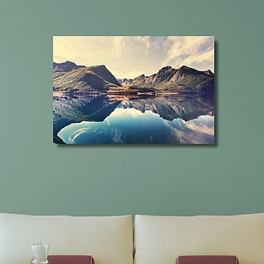 Ebern Designs 'Lakeside Eye-level' Photographic Print on Canvas; 30'' H x 45'' W x 1.25'' D