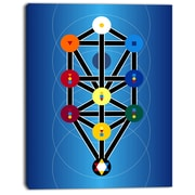 East Urban Home Cabala Jewish Symbols Graphic Art Print on Canvas; 12 '' W x 20 '' H