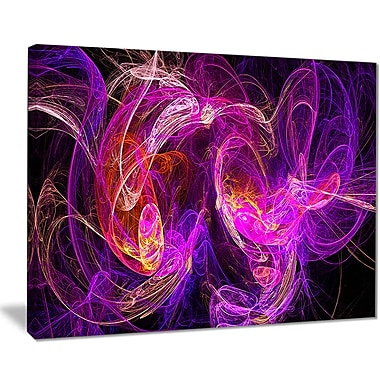East Urban Home Colored Smoke Blue Purple Graphic Art Print on Canvas; 20 '' W x 12 '' H