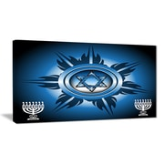 East Urban Home Jewish Symbols Graphic Art Print on Canvas; 40 '' W x 20 '' H