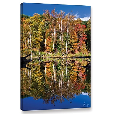 Loon Peak Autumn Reflection 3 Photographic Print on Wrapped Canvas; 12'' H x 8'' W x 2'' D
