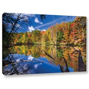 Loon Peak Autumn Reflection 2 Photographic Print on Wrapped Canvas; 24'' H x 36'' W x 2'' D