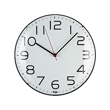 Ergo Frameless Silent Wall Clock, 12.25