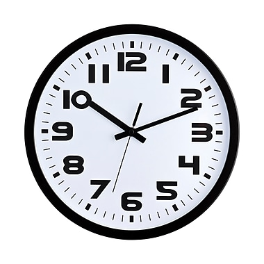 Ergo – Horloge murale silencieuse, 12,5 po