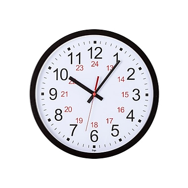 Ergo 24-Hour Office Silent Wall Clock, 12.5