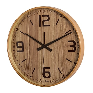 Ergo Bent Wood Silent Wall Clock, 14