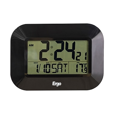 Ergo Digital Clock, Bilingual Calendar, Thermo (38603)