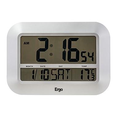 Ergo – Horloge numérique géante, calendrier bilingue, thermomètre (38608)