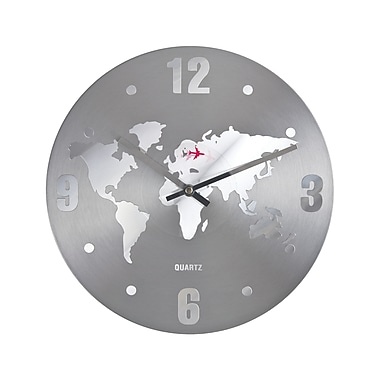 Ergo Trek Moving Plane Wall Clock, 12