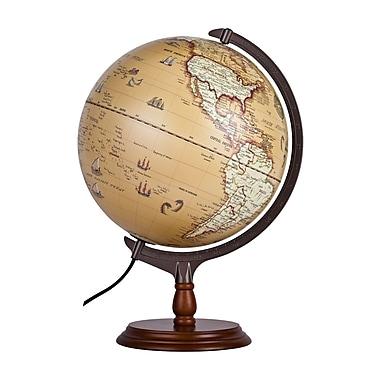 Ergo Terra Vintage Illuminated Globe, 12