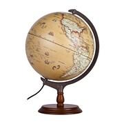 Ergo – Globe illuminé vintage Terra, 12 x 16 po (95035)