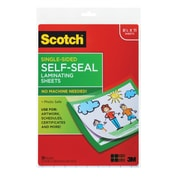 "Scotch™ Laminating Sheets, Letter Size, Single Sided, 9"" x 12"", 50 Sheets/Pack"