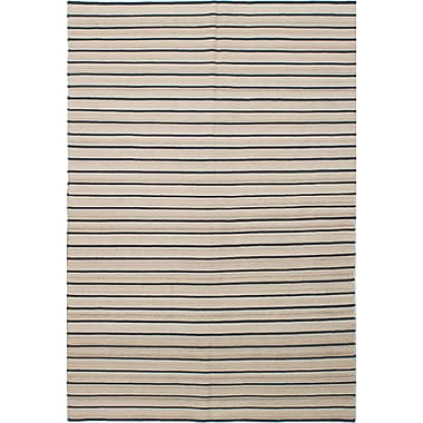 Union Rustic Rollins Hand-Woven Cream/Navy Area Rug