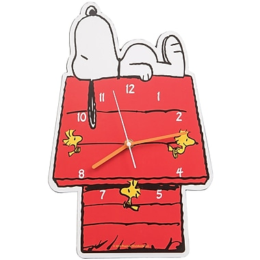 Vandor Peanuts Snoopy Shaped Deco Wall Clock