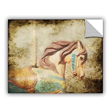 Winston Porter Route Vintage Carousel III Wall Mural; 8'' H x 10'' W x 0.1'' D